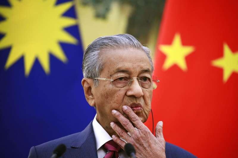 馬來西亞總理馬哈地表示,馬國支持「一帶一路」,但不想看到新型殖民主義。(美聯社)