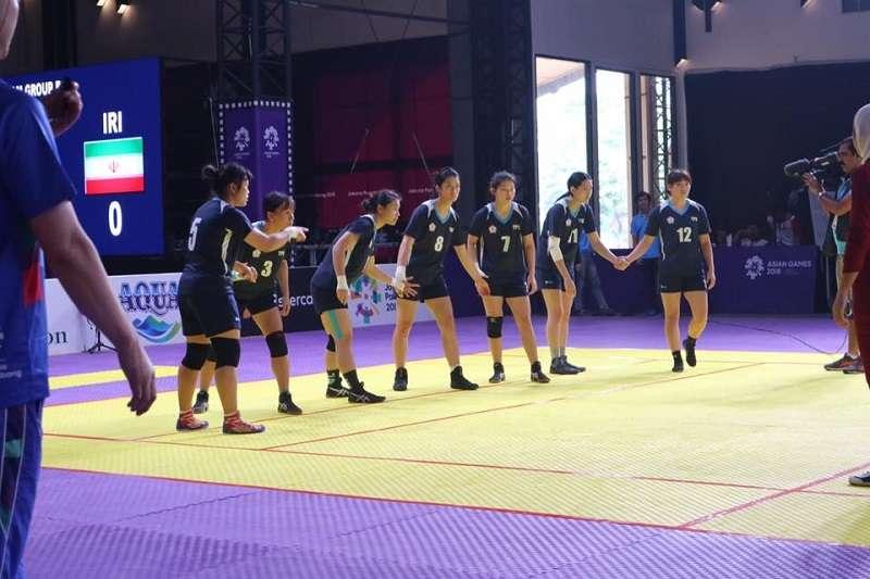 亞運女子組卡巴迪項目,中華隊以14比27不敵印度,拿下亞運隊史卡巴迪項目的銅牌。 (圖/卡巴迪協會提供)