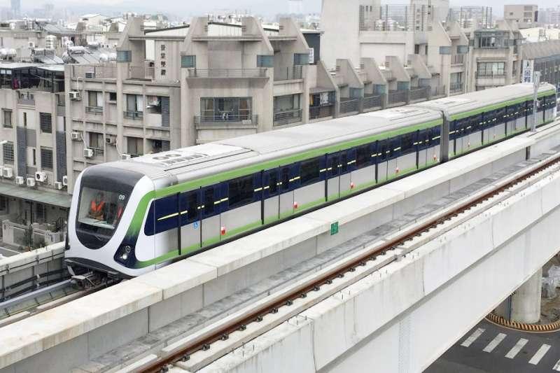 台中捷運綠線自動駕駛電聯車。(圖/台中市政府交通局提供)