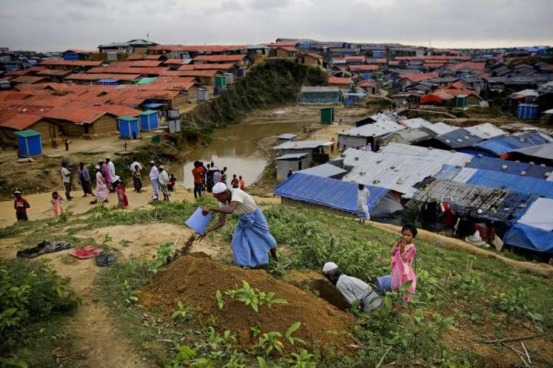 羅興亞難民危機一周年。(AP)