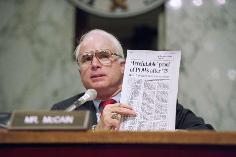 美國共和黨政壇大老馬侃(John McCain)(美聯社)
