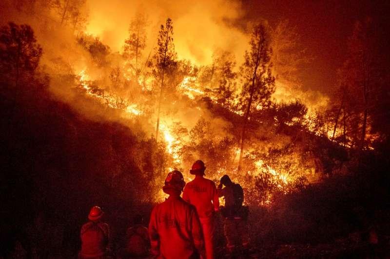 加州火災。(美聯社)