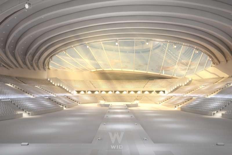 最新設計作品靠著深厚創意建築底子一舉拿下江蘇省大湖小巨蛋(圖/WID建築室內設計事務所提供)