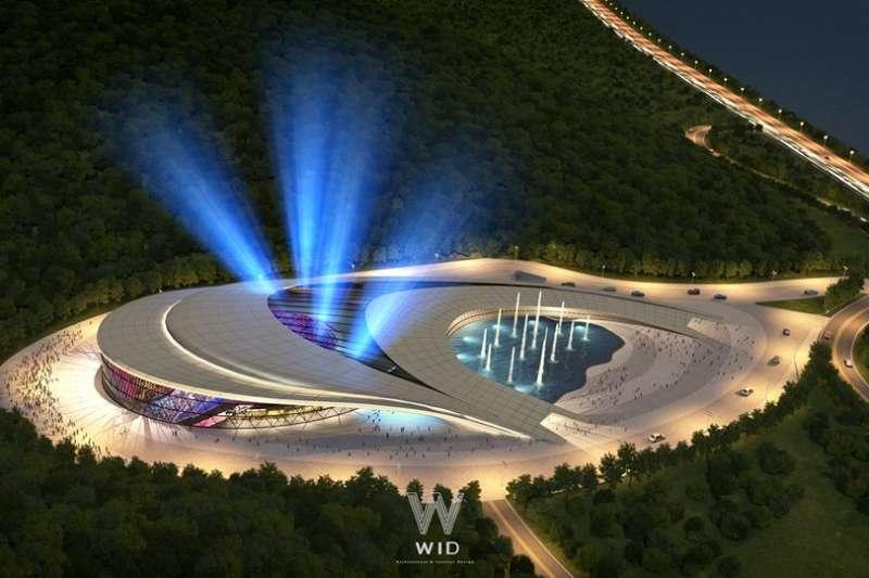 夜晚景象搭配燈光顯出與白天不同風貌(圖/WID建築室內設計事務所提供)