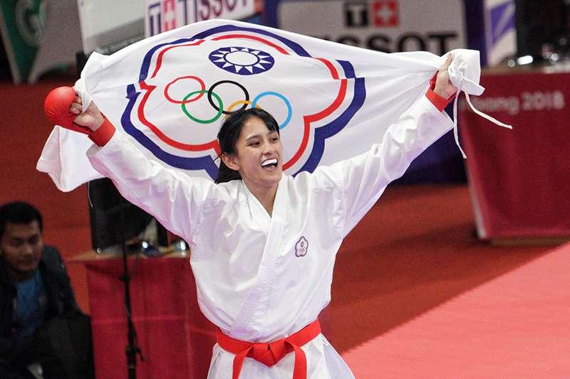 中華亞運代表隊再傳出好消息,在空手道女子對打50公斤項目,由谷筱霜再為中華隊增添一面金牌。(中華奧會提供)