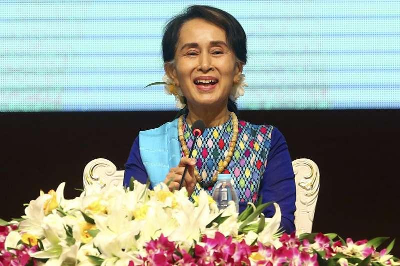 羅興亞危機1周年:緬甸實質領導人翁山蘇姬(AP)