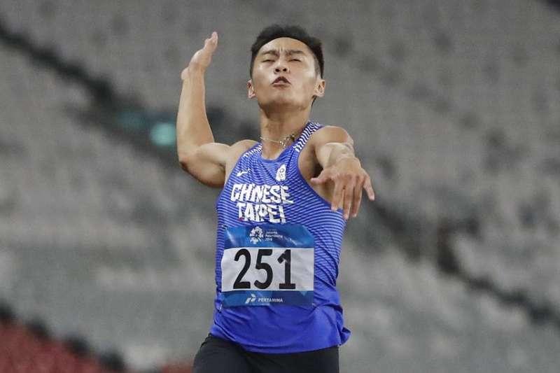 林子齊在這次亞運跳遠突破8公尺,是台灣史上第6人有此成績。(美聯社)