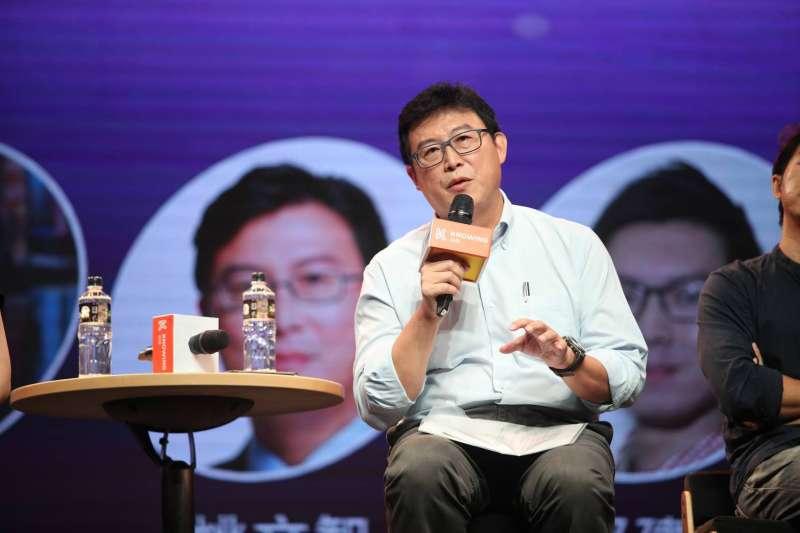 20180828-民進黨台北市長參選人姚文智28日出席第三屆數位行動產業高峰會。(姚文智辦公室提供)