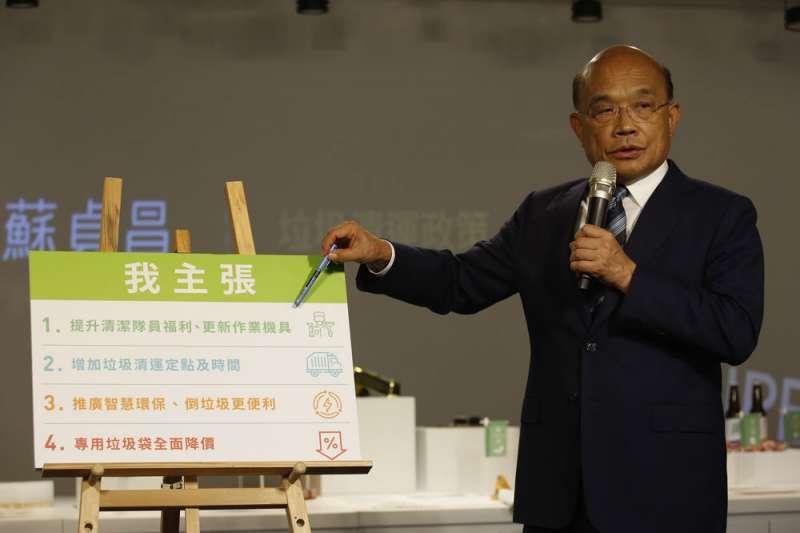 蘇貞昌的選戰爆發力,讓民進黨看到攻下新北市的可能性。(郭晉瑋攝)