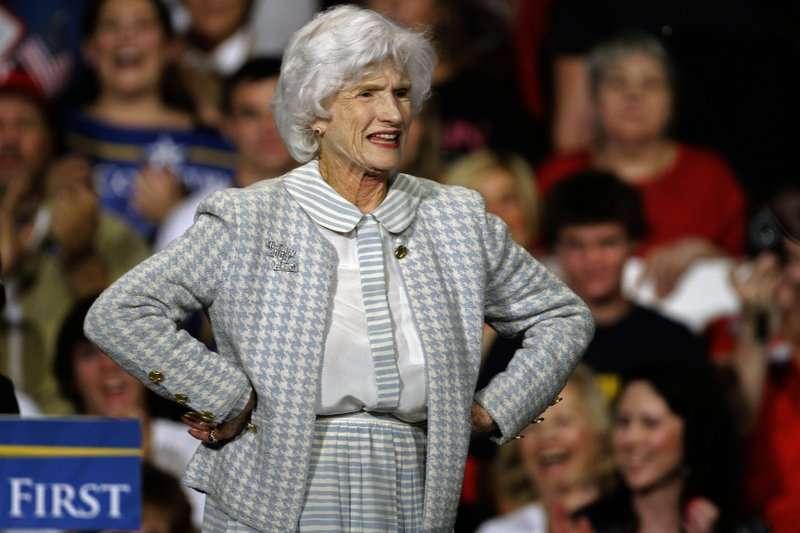 馬侃的母親蘿貝塔今年高齡106歲,圖為她2008年公開活動時的照片。(AP)