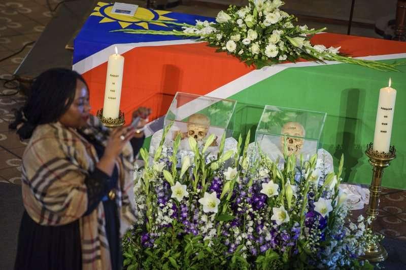 德國於29日歸還遺骨予納米比亞。(AP)