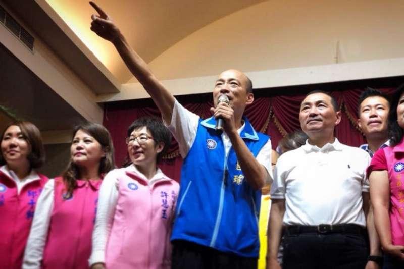 民進黨沒扳倒侯友宜,還讓韓國瑜聲勢「坐大」。圖為侯、韓聯合造勢。(幹國瑜臉書)