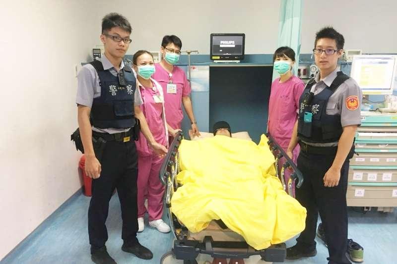 急診室暴力演練。(台北榮民總醫院提供)
