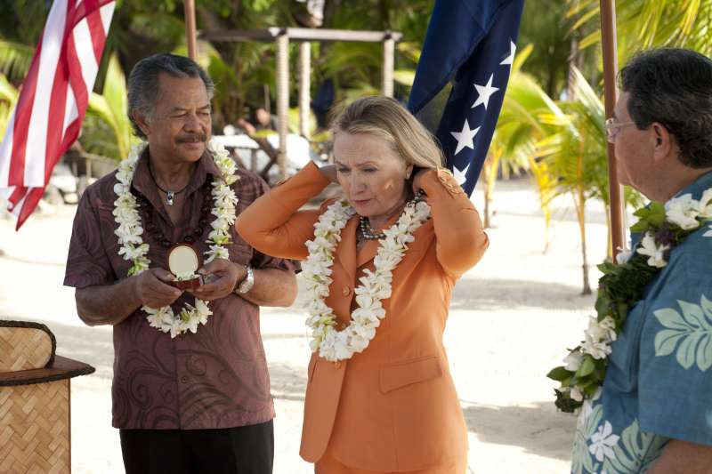 2012年8月,希拉蕊.柯林頓(Hillary Clinton)成為第一位訪問庫克群島的美國國務卿(Wikipedia / Public Domain)