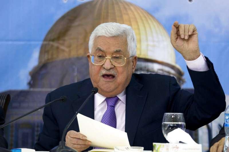 巴勒斯坦自治政府主席阿巴斯。(AP)