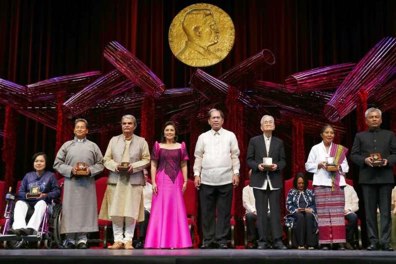2018年8月31日,6名麥格塞塞獎得主齊聚菲律賓文化中心。(AP)