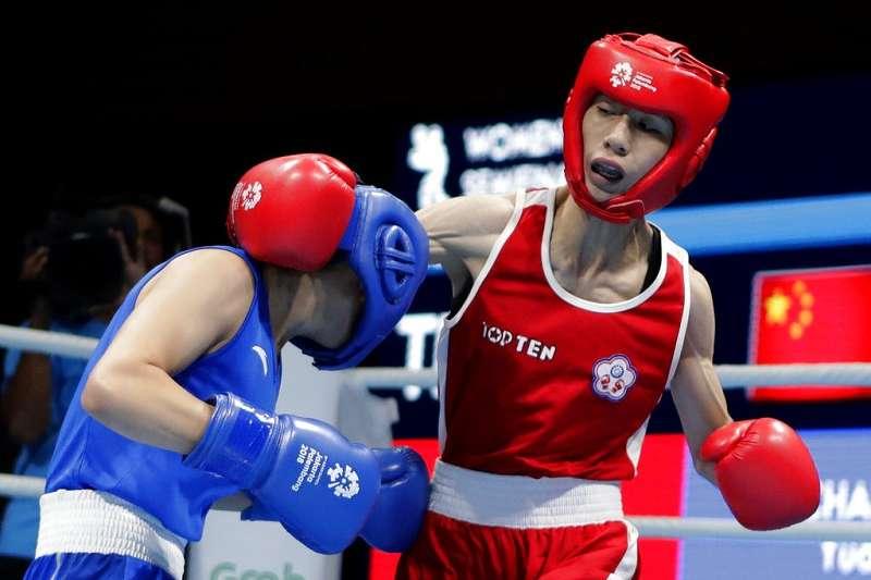 林郁婷(右)女子拳擊51公斤奪下銅牌。(美聯社)