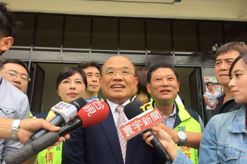 2018年9月1日,民進黨新北市長候選人蘇貞昌出席宗教後援會成立大會(蘇貞昌辦公室)