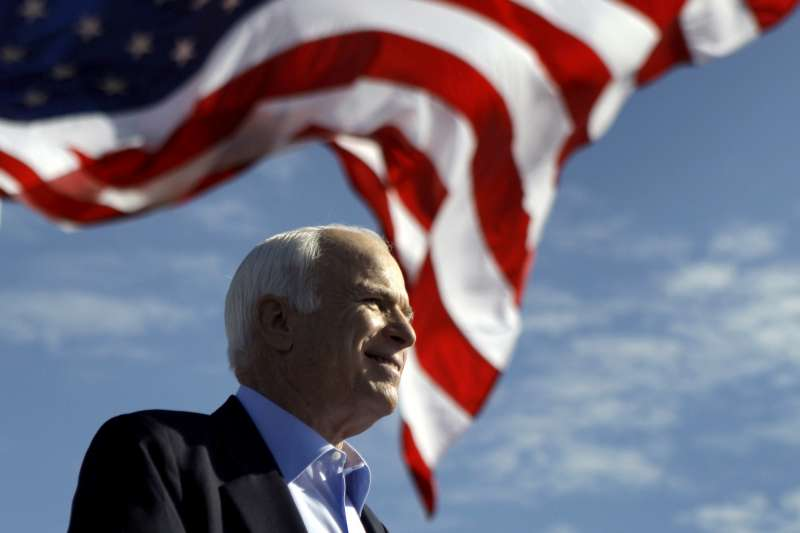 美國共和黨重量級聯邦參議員馬侃日前因腦癌病逝(美聯社)
