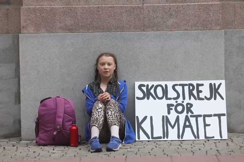 瑞典少女桑伯格(Greta Thunberg)呼籲政府採取行動因應氣候危機。很多國家仍不理會。(截自YouTube)