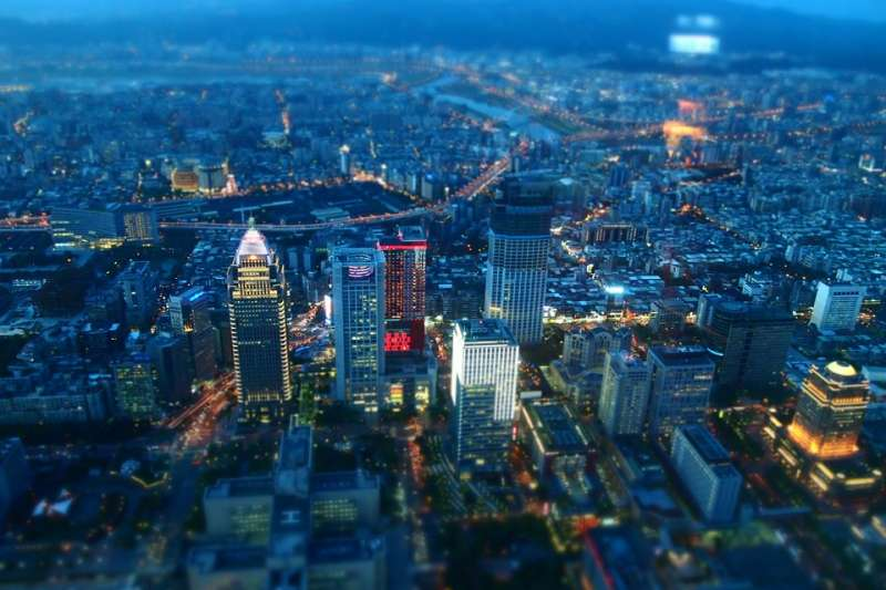 台灣 台北 都會 夜景 房市 城市 建築(取自n23club@pixabay/CC0)