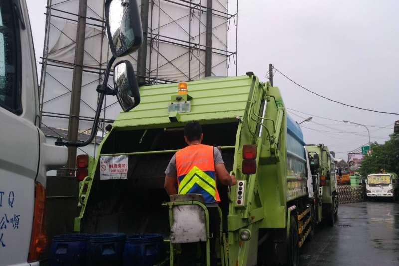 20180903-台南市垃圾清運配圖。(環保工聯提供)