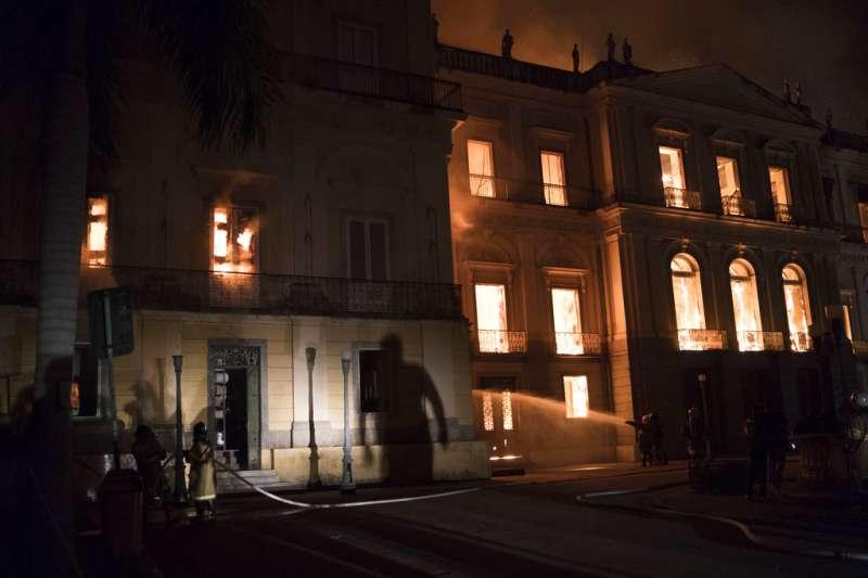 巴西國家博物館是南美自然歷史和人類科學最重要的博物館。(美聯社)
