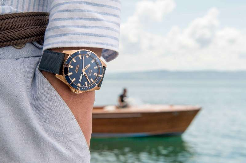 Ocean Star海洋之星領航80小時腕錶,完美引領休閒時尚風格。(圖/Mido提供)