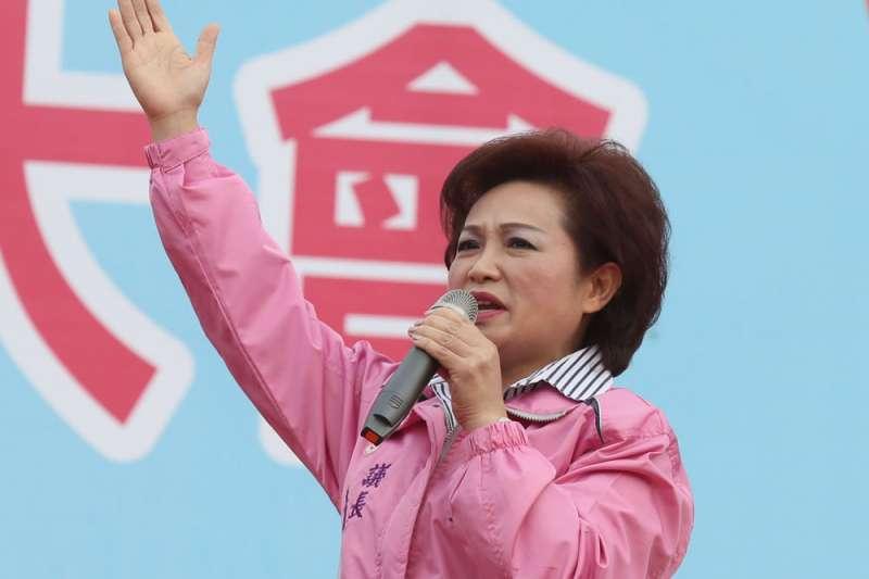 嘉義市議會議長蕭淑麗日前表態力挺「下一代幸福聯盟。(林瑞慶攝)
