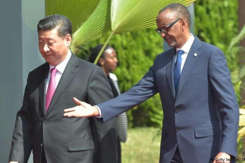 2018年7月,盧安達總統訪中。(德國之聲)