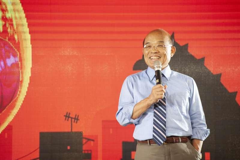 遭質疑核四立場反覆,民進黨新北市長候選人蘇貞昌反擊。(資料照,蘇貞昌辦公室提供)