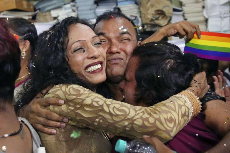 印度LGBT。(AP)