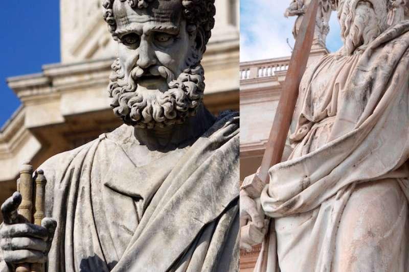 羅馬主保聖人伯多祿和保羅。(曾廣儀攝)