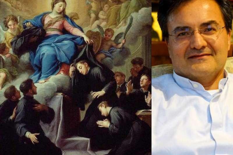省會長歐蘭迪尼和聖母忠僕會七位會祖。(曾廣儀攝)