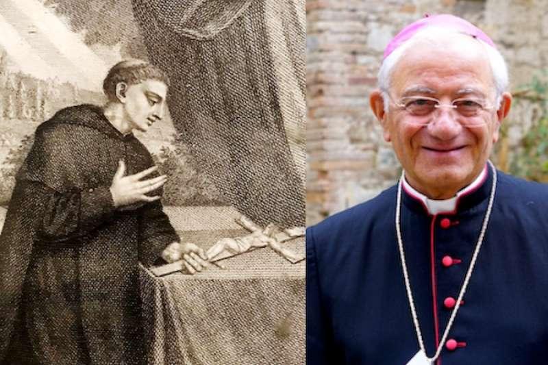 荼滋亞主教和聖貝尼吉與十字架。(Teresa Tseng攝)