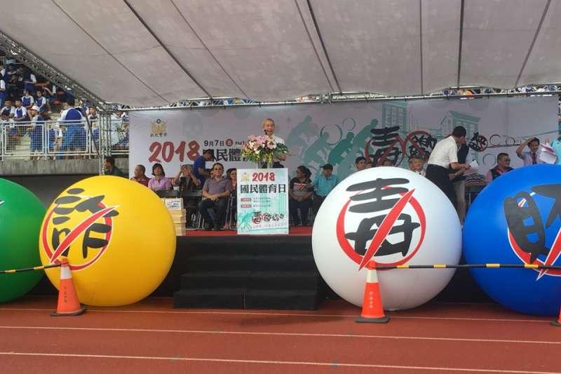 新北市政府警察局舉辦反毒宣導活動,亦邀民眾一起杜絕賄選建立優良選風。(圖/新北市政府警察局提供)
