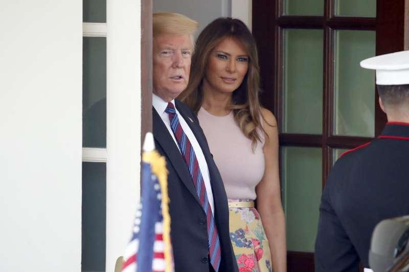 美國總統川普與第一夫人梅蘭妮亞(AP)