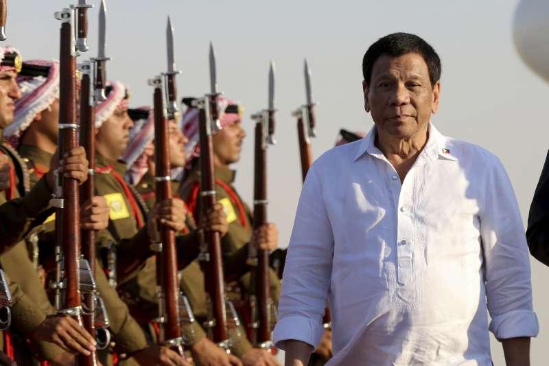 菲律賓狂人總統杜特蒂。(美聯社)