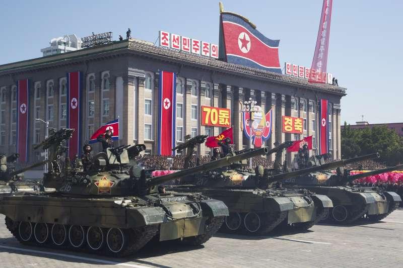 2018年9月9日,北韓70周年國慶日大閱兵(AP)