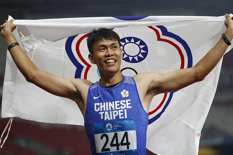 陳奎儒在亞洲田徑錦標賽110公尺跨欄項目追平全國紀錄,成功摘下銅牌。(資料照,美聯社)