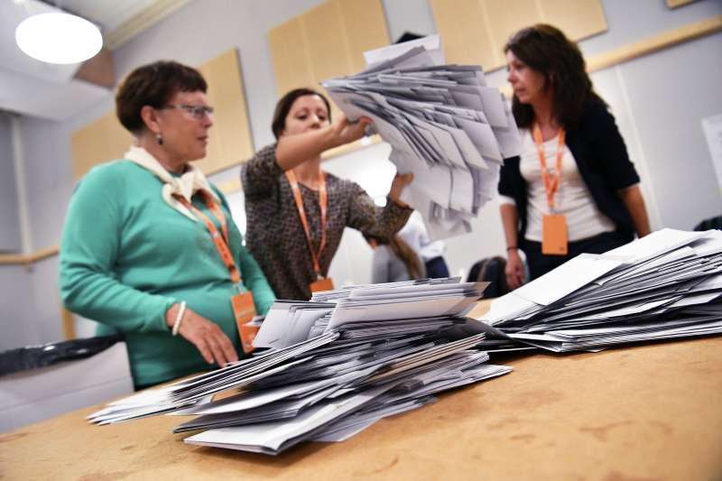 瑞典大選:目前開票結果顯示,極右派政黨「瑞典民主黨」得票大幅增加(AP)