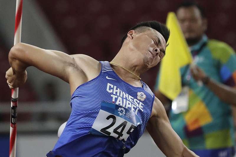 鄭兆村在歐洲田徑黃金大獎賽的男子標槍決賽奪下銅牌。(美聯社)