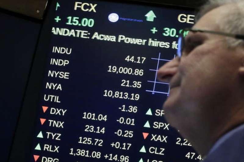 「2019年第1季全球股市都有機會反彈,彈到哪裡不必預設立場,只要記住台股萬點無法長期久站,反彈指數越高,越要注意投資風險⋯⋯」(示意圖,美聯社)