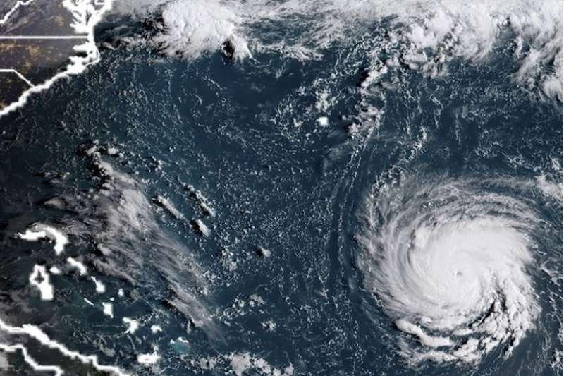 氣象人員表示,「佛羅倫斯」必定會襲擊美國海岸線。(BBC中文網)