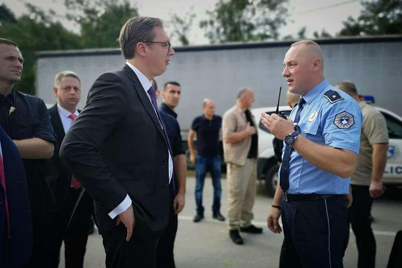 塞爾維亞總統武契奇被科索沃警察告知,無法前往巴尼亞村訪問(AP)