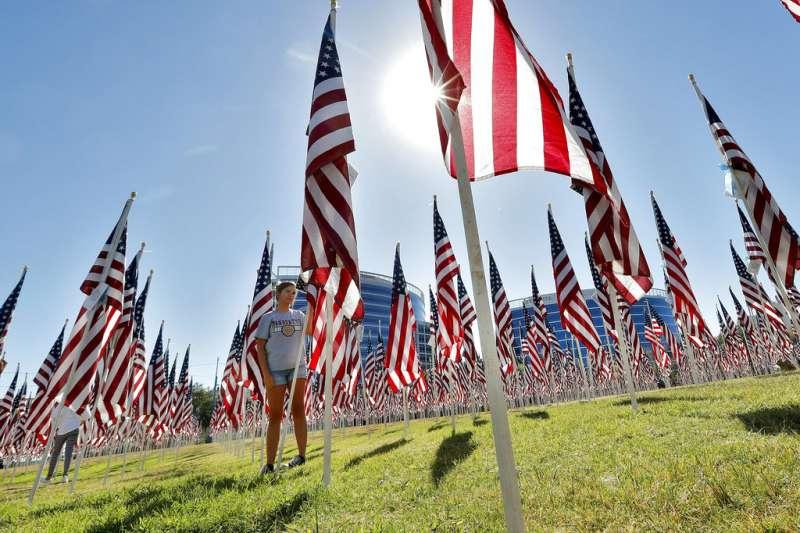 美國紀念911事件17周年。(AP)