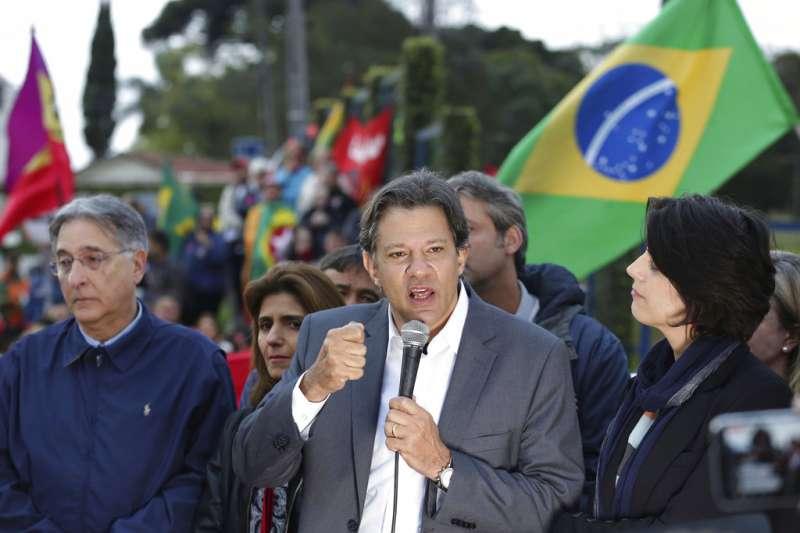 前總統魯拉退選後,指派副手哈達德(Fernando Haddad)作為巴西總統候選人。(AP)