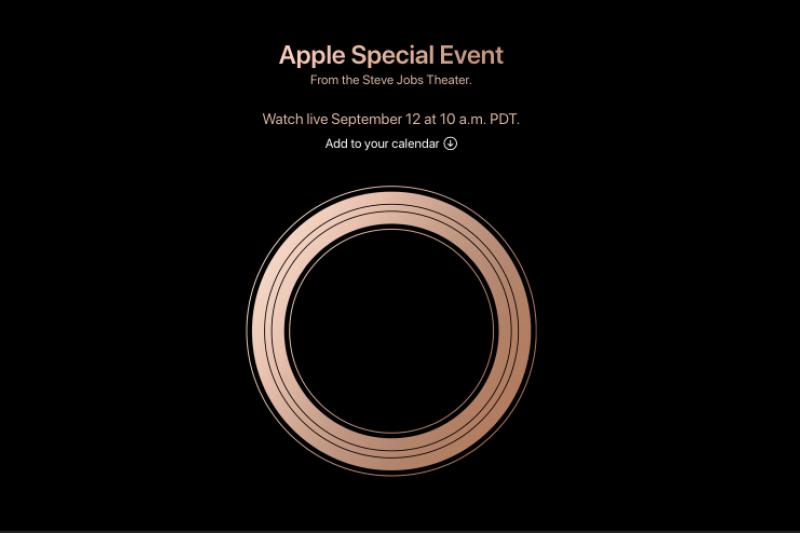 蘋果的新品發表會將於美西時間9/12日於加州舉行。(蘋果官網)