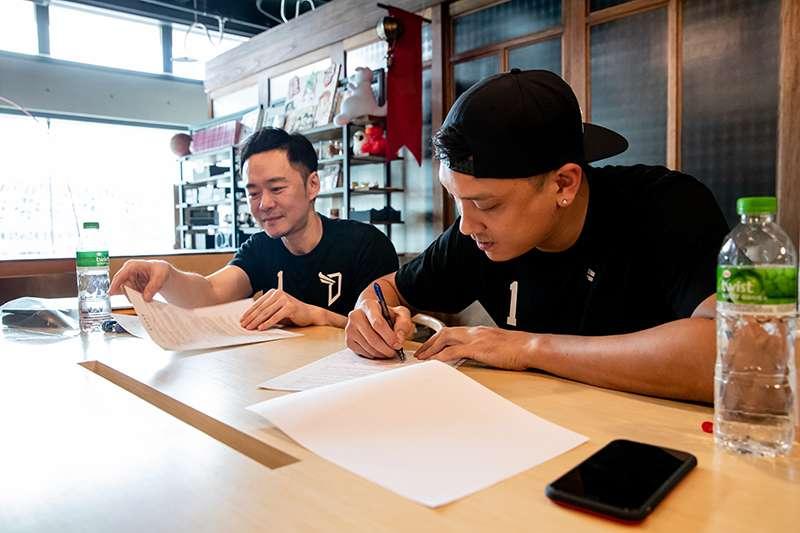 田壘對於能回到台灣打球非常開心,也希望過自己旅外的經驗傳承給年輕球員們。(圖由寶島夢想家提供)