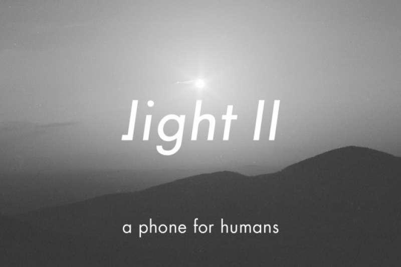 Light Phone官網強調,這是一隻給人類的手機。(圖/瘋設計提供)